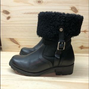 Ugg Bellvue II Leather Shearling Midcalf Up/Down